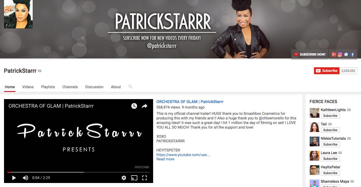 Patrick Starrr YouTube Influencer