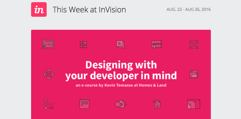 InVision Content Marketing Email