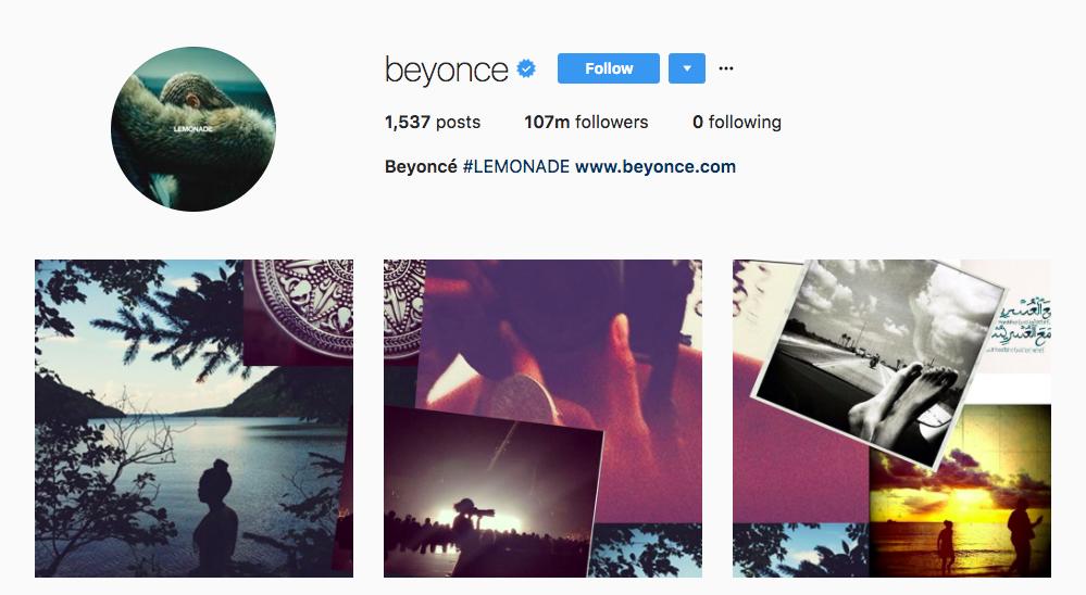 Beyonce Top Instagram Influencers