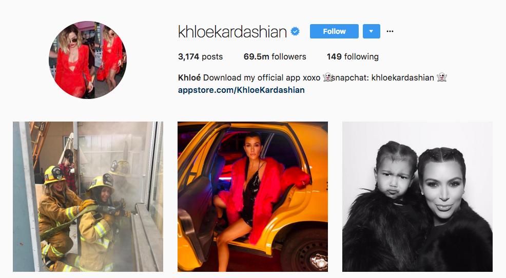 Khloe Kardashian Top Instagram Influencer