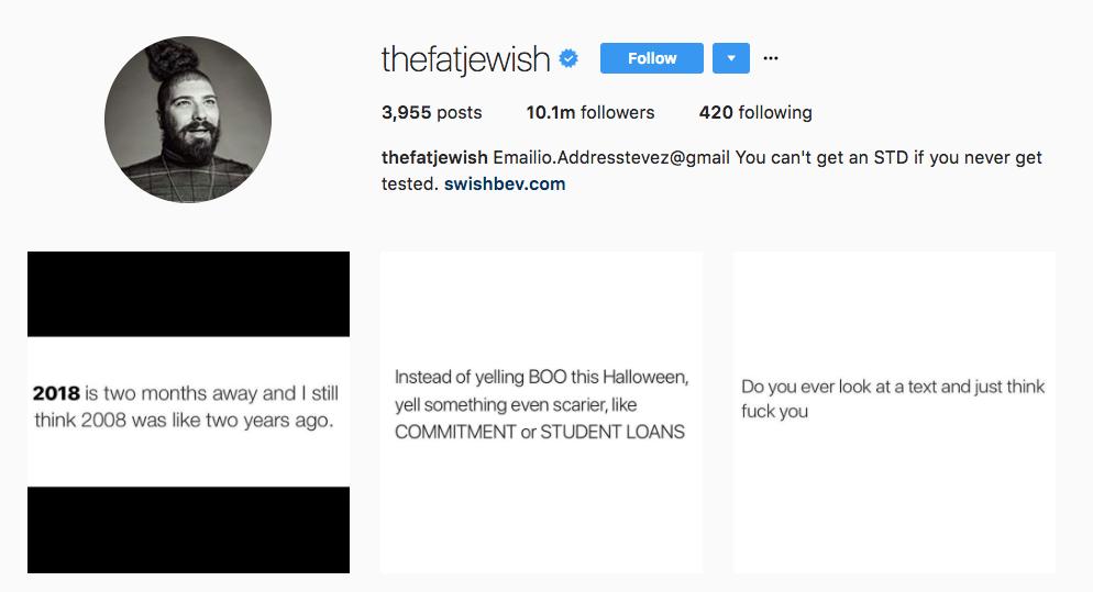 The Fat Jew Instagram Influencer
