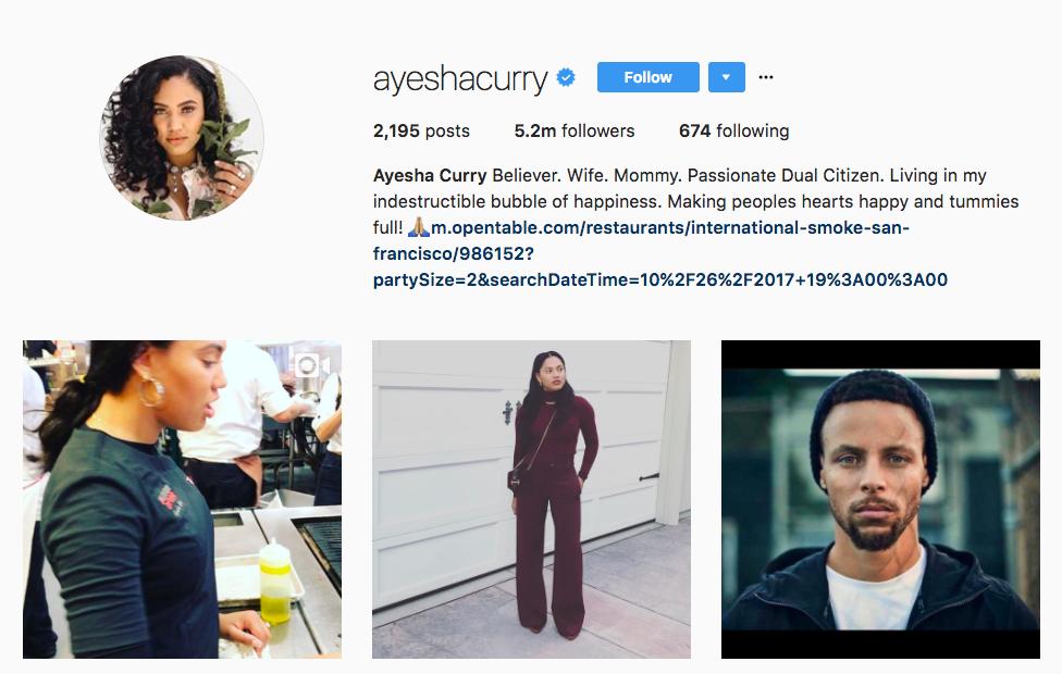 Ayesha Curry Instagram Influencer