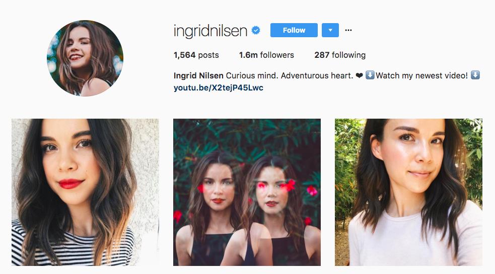 Ingrid Nilsen Instagram Influencer
